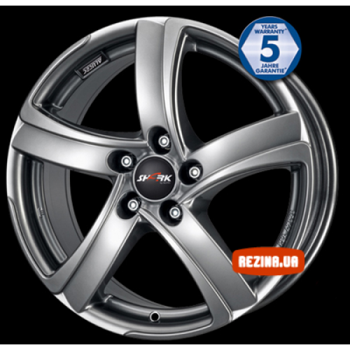 Купить диски Alutec Shark R18 5x105 j8.0 ET35 DIA56.6 silver