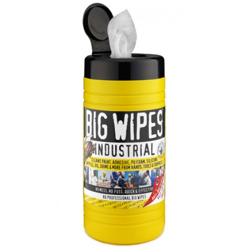 Купить  Салфетки для рук BIG WIPES INDUSTRIAL 20х30 см туба 80+20 шт