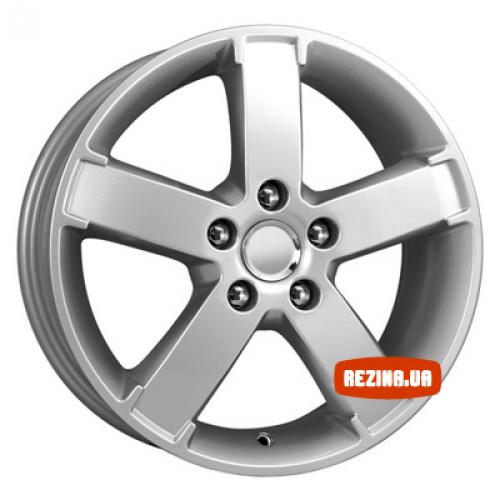 Купить диски КиК KC417 R15 5x108 j6.0 ET52.5 DIA63.3 серебро алмаз