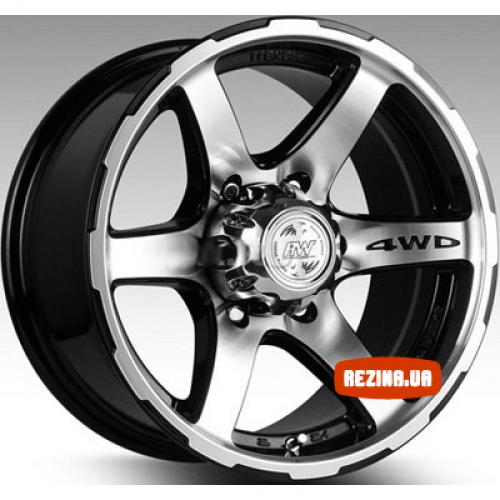 Купить диски Racing Wheels H-526 R16 6x139.7 j8.0 ET0 DIA110.5 BK-F/P