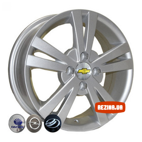 Купить диски Replica Chevrolet (Z614) R15 4x100 j6.0 ET44 DIA56.6 silver