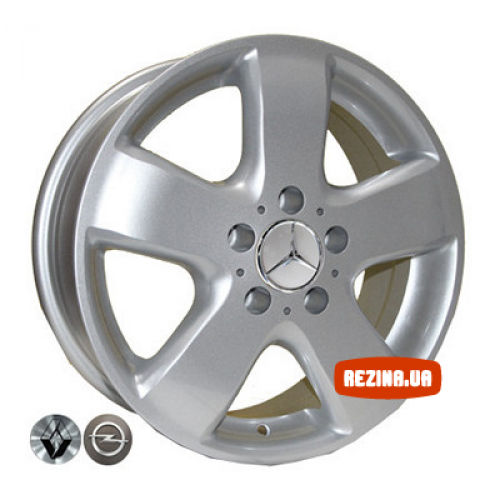 Купить диски Replica Mercedes (Z343) R15 5x130 j6.5 ET50 DIA84.1 silver