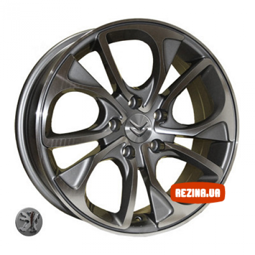 Купить диски Replica Peugeot (Z1010) R16 5x108 j6.5 ET32 DIA65.1 DGMF