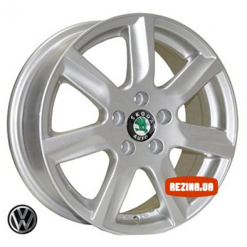 Купить диски Replica Skoda (7314) R15 5x100 j6.0 ET40 DIA57.1 silver