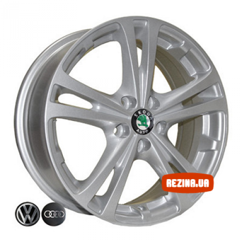 Купить диски Replica Skoda (Z616) R15 5x100 j6.0 ET43 DIA57.1 silver