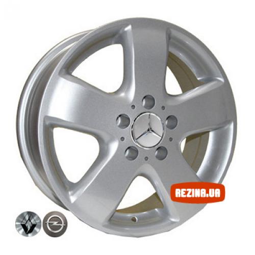 Купить диски Replica Volkswagen (Z343) R16 5x120 j6.5 ET45 DIA65.1 silver