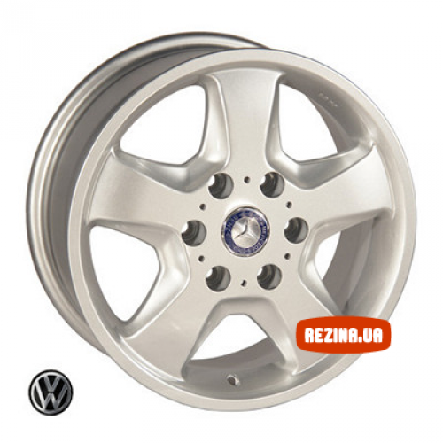 Купить диски Replica Volkswagen (Z491) R16 6x130 j7.0 ET50 DIA84.1 silver