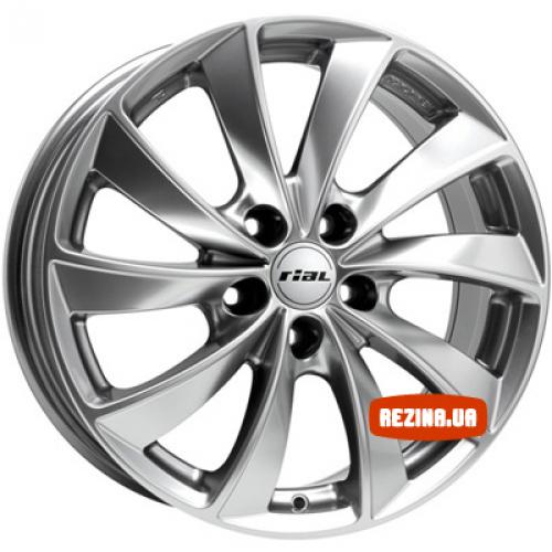 Купить диски Rial Lugano R18 5x114.3 j8.0 ET43 DIA70.1 Супер серебро
