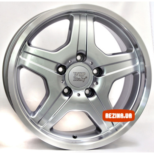 Купить диски WSP Italy Mercedes (W760) Matera R18 5x130 j9.5 ET50 DIA84.1 SILVER POLISHED