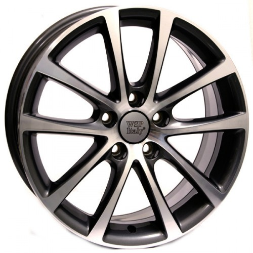 Купить диски WSP Italy Volkswagen (W454) Eos Riace R18 5x112 j8.0 ET45 DIA57.1 ANTHRACITE POLISHED