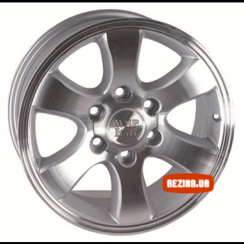 Купить диски WSP Italy Toyota (W1707) Yokohama Prado R16 6x139.7 j7.0 ET10 DIA106.1 SILVER POLISHED