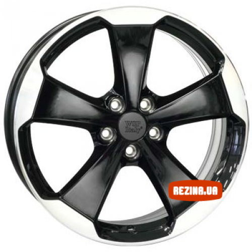 Купить диски WSP Italy Volkswagen (W465) Laceno R18 5x112 j7.5 ET51 DIA57.1 black polished